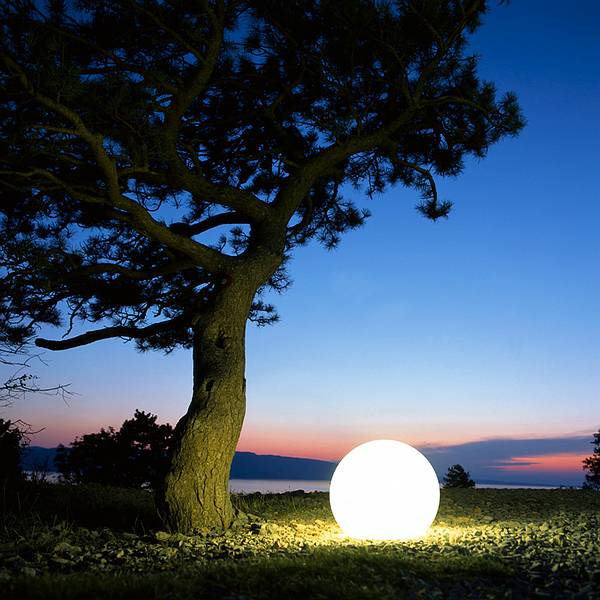 Light Sphere by Moonlight