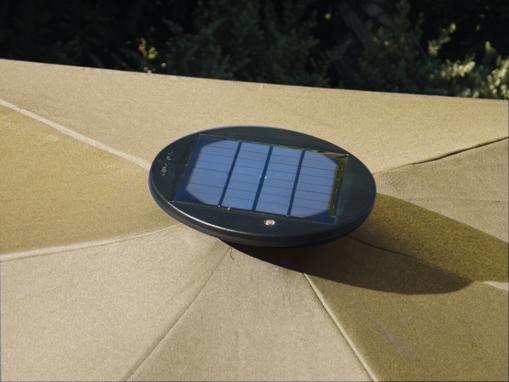solar umbrella. Black Bedroom Furniture Sets. Home Design Ideas